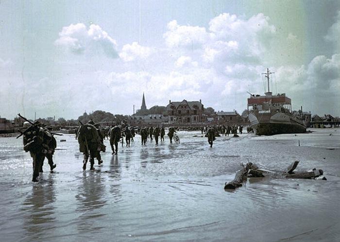 Canadian Soldiers landing on Juno Beach