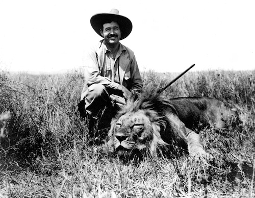 Ernest Hemingway on Safari in 1934