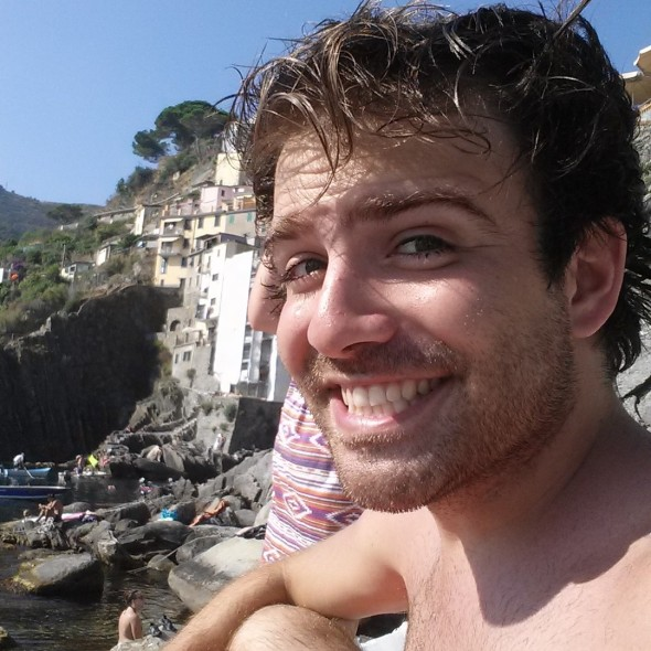 Kolby Solinsky in Cinque Terre