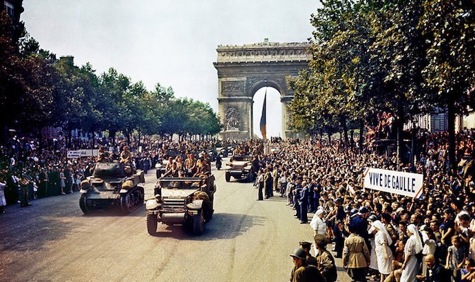Champs Elysees in Paris - WWII