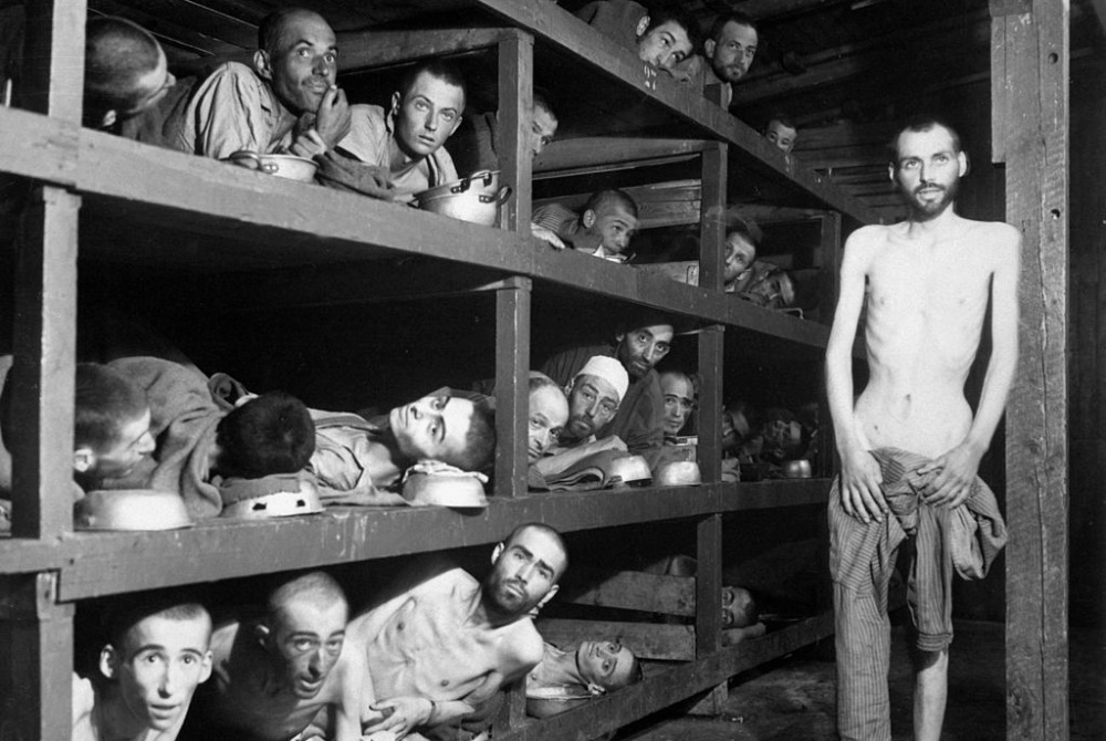 Prisoners at Buchenwald concentration camp in Jena, Germany. (Photo: Wikimedia Commons)